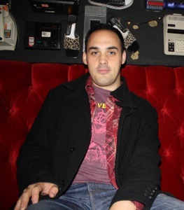 Aaron Schubert, bookings and promotions manager for the Biltmore Cabaret. Photo by myself.